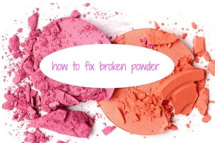 how to fix broken powder