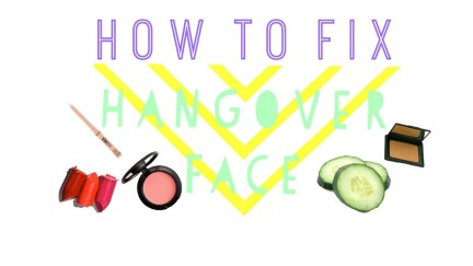 how to fix a hangover face
